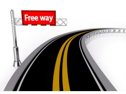 Road With Hoarding Of Free Way Stock Photo