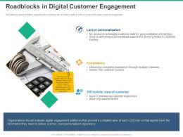 Roadblocks In Digital Customer Engagement Consistency Ppt Powerpoint Presentation Portfolio