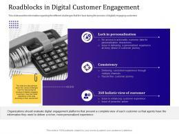 Roadblocks In Digital Customer Engagement Ppt Powerpoint Presentation File Styles
