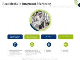Roadblocks In Integrated Marketing Creating Successful Integrating Marketing Campaign
