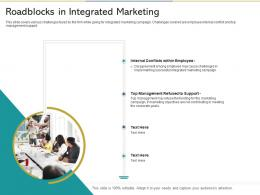 Roadblocks In Integrated Marketing Reshaping Product Marketing Campaign Ppt Grid