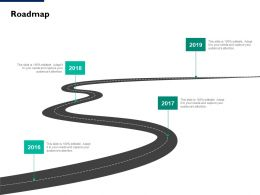 Roadmap 2016 To 2019 L103 Ppt Powerpoint Presentation Portfolio Clipart