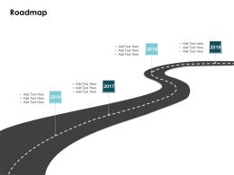 Roadmap 2016 To 2019 L39 Ppt Powerpoint Presentation Template
