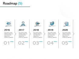 Roadmap 2016 To 2020 L1040 Ppt Powerpoint Presentation Visual Aids