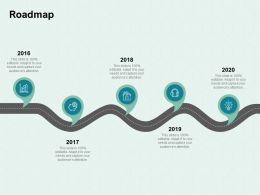 Roadmap 2016 To 2020 Ppt Powerpoint Presentation Infographic Template Visuals