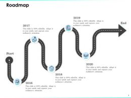 Roadmap 2016 To 2020 Years Attention Editable Ppt Powerpoint Presentation Diagrams