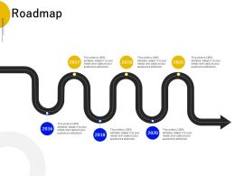 Roadmap 2016 To 2021 L671 Ppt Powerpoint Presentation Outline Graphics