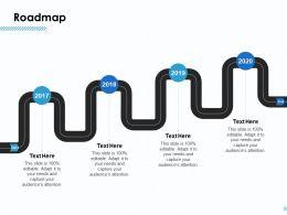Roadmap 2017 To 2020 L916 Ppt Powerpoint Presentation Show Portrait