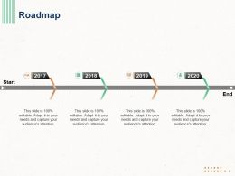 Roadmap 2017 To 2020 Start Ppt Powerpoint Presentation Professional Ideas