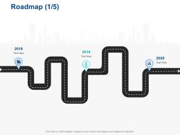 Roadmap 2018 To 2020 Years Ppt Powerpoint Presentation Styles Graphics Example