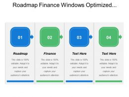 Roadmap Finance Windows Optimized Desktop Roadmap Leveraging Application