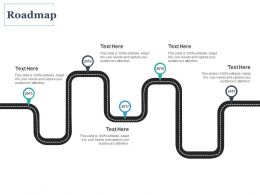 Roadmap Five Process C1080 Ppt Powerpoint Presentation Icon Skills
