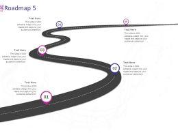 Roadmap Five Stage L980 Ppt Powerpoint Presentation Infographics Slides