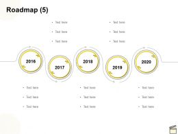Roadmap Five Year Process C1151 Ppt Powerpoint Presentation Infographic
