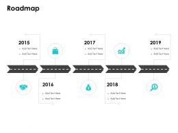Roadmap Five Years Timeline F670 Ppt Powerpoint Presentation Slides Layout