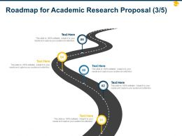 Roadmap For Academic Research Proposal Ppt Powerpoint Presentation Outline Icon