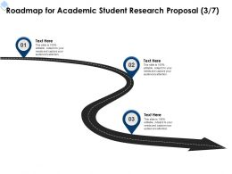 Roadmap For Academic Student Research Proposal L1723 Ppt Powerpoint Presentation Smartart