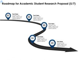 Roadmap For Academic Student Research Proposal L1725 Ppt Powerpoint Presentation Model