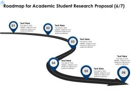 Roadmap For Academic Student Research Proposal L1726 Ppt Powerpoint Presentation Show