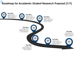 Roadmap For Academic Student Research Proposal L1727 Ppt Powerpoint Presentation File