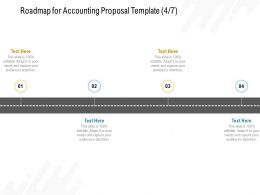 Roadmap For Accounting Proposal Template Ppt Powerpoint Presentation Slides Images