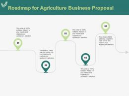 Roadmap For Agriculture Business Proposal Ppt Powerpoint Presentation Icon Template