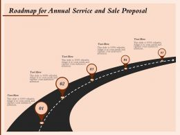 Roadmap For Annual Service And Sale Proposal Ppt Powerpoint Presentation Styles Layouts
