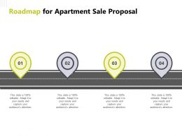 Roadmap For Apartment Sale Proposal Ppt Powerpoint Presentation Background