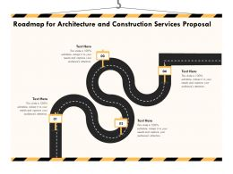 Roadmap For Architecture And Construction Services Proposal Ppt Powerpoint Example
