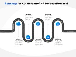 Roadmap For Automation Of HR Process Proposal Ppt Powerpoint Presentation Gallery