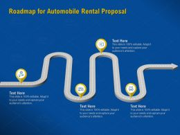 Roadmap For Automobile Rental Proposal Audiences Attention Ppt Powerpoint Presentation Slides