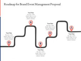 Roadmap For Brand Event Management Proposal Ppt Powerpoint Inspiration
