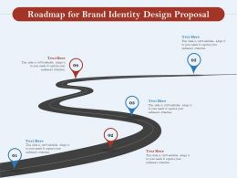 Roadmap For Brand Identity Design Proposal Ppt Powerpoint Presentation Styles File