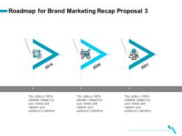 Roadmap For Brand Marketing Recap Proposal 3 Ppt Gallery