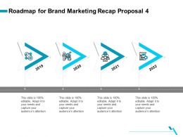 Roadmap For Brand Marketing Recap Proposal 4 Ppt Template