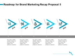 Roadmap For Brand Marketing Recap Proposal 5 Ppt File Elements
