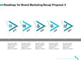Roadmap For Brand Marketing Recap Proposal 5 Ppt File Elements