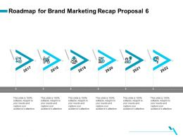Roadmap For Brand Marketing Recap Proposal 6 Ppt Gallery