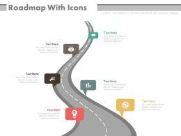 Roadmap For Business Achievement Analysis Powerpoint Slides