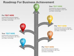 Roadmap For Business Achievement Flat Powerpoint Design