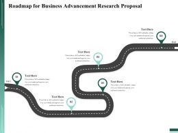 Roadmap For Business Advancement Research Proposal Ppt File Formats