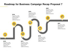Roadmap For Business Campaign Recap Proposal 2015 To 2021 Ppt Powerpoint Presentation Topics
