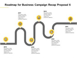 Roadmap For Business Campaign Recap Proposal 2016 To 2021 Ppt Powerpoint Presentation Rules