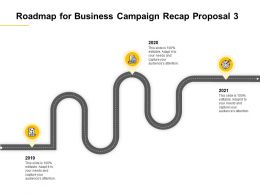 Roadmap For Business Campaign Recap Proposal 2019 To 2021 Ppt Powerpoint Presentation Slide