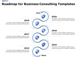 Roadmap For Business Consulting Templates Ppt Powerpoint Presentation Summary