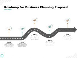 Roadmap For Business Planning Proposal 2016 To 2020 Ppt Powerpoint Summary Master Slide