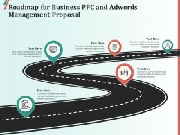Roadmap For Business PPC And AdWords Management Proposal Ppt Clipart