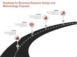 Roadmap For Business Research Design And Methodology Proposal Ppt Powerpoint Icon