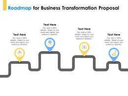 Roadmap For Business Transformation Proposal Ppt Powerpoint Presentation Ideas