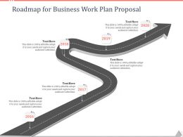 Roadmap For Business Work Plan Proposal Ppt Powerpoint Presentation Show Slides